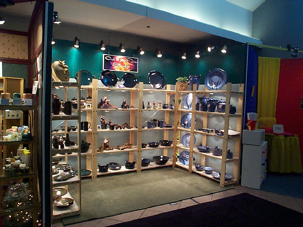 how to make a pottery display booth. Black Bedroom Furniture Sets. Home Design Ideas